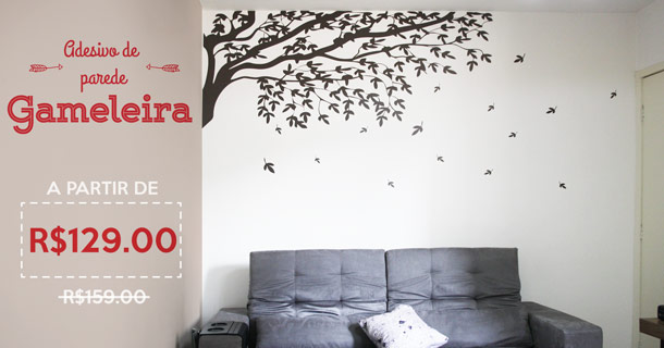 Adesivo de parede - Renove seu ambiente por apenas R$129,00 ou 6x de R$21,50
